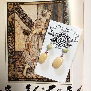 Casey Keith Design Jewelry - Butter Jade Earrings